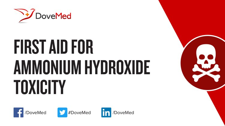 First Aid For Ammonium Hydroxide Toxicity
