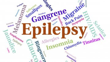 Epilepsy Illness Showing Words Infections And Disorder.