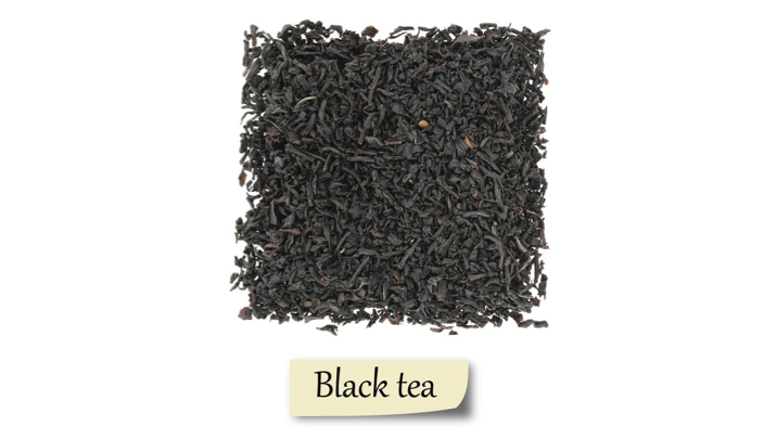 Herbs and spices showing Black tea.