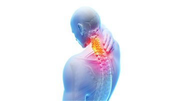 3d rendered illustration - painful neck.