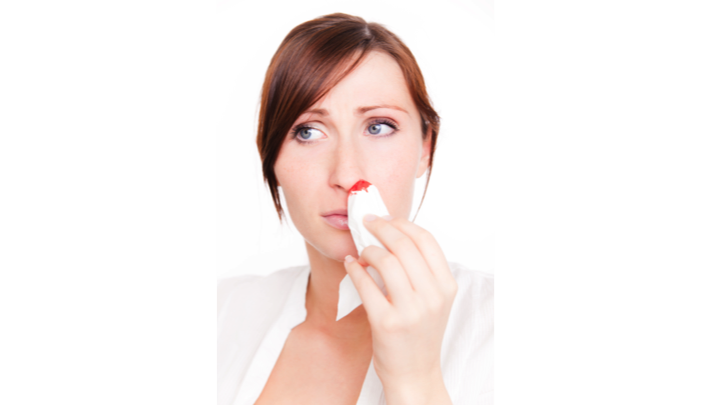 Bleeding from nose can be due to many causes.