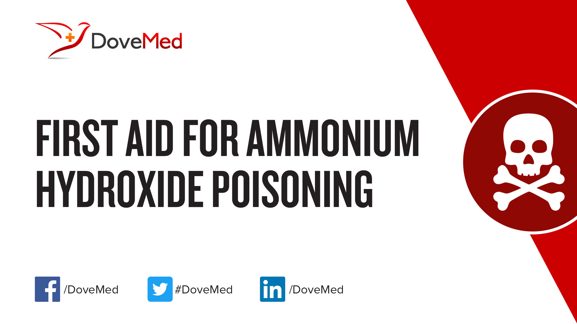 First Aid For Ammonium Hydroxide Poisoning